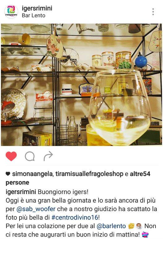 Foto scattata al Bar Lento di Rimini da Sabrina Campanella @sab_woofer
