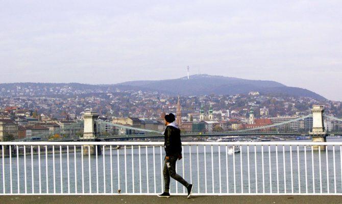 Panorama Di Budapest Vista Dal Danubio