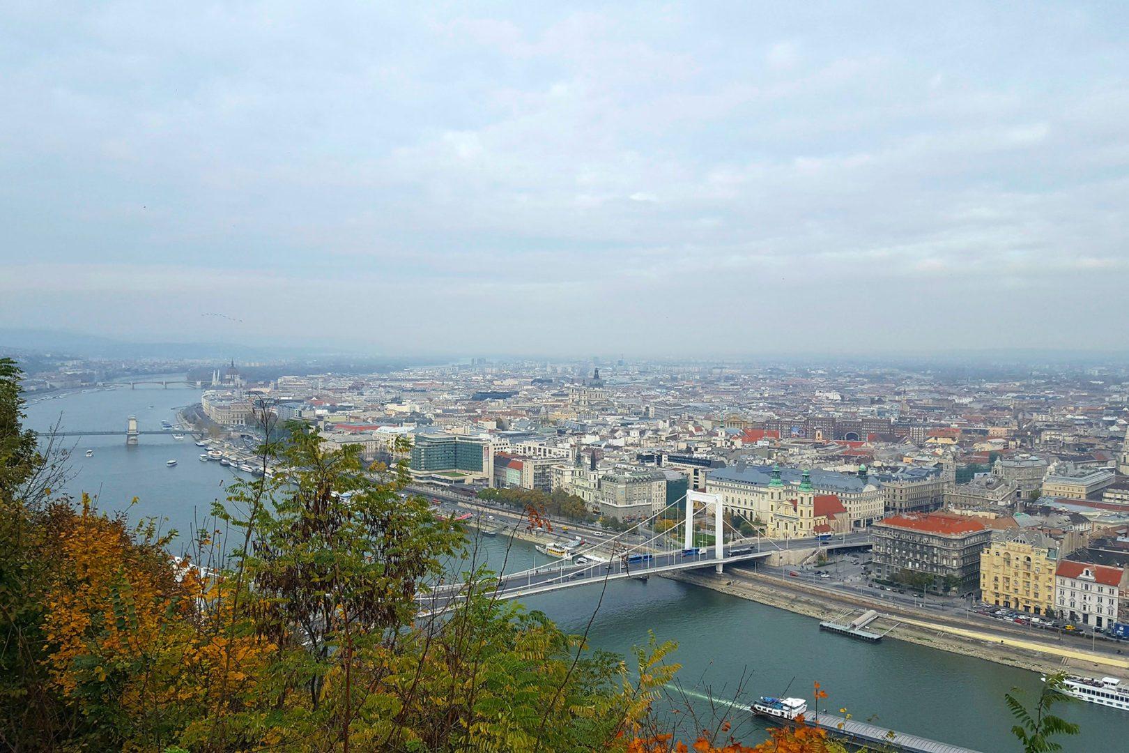 foto panoramica di budapest da buda