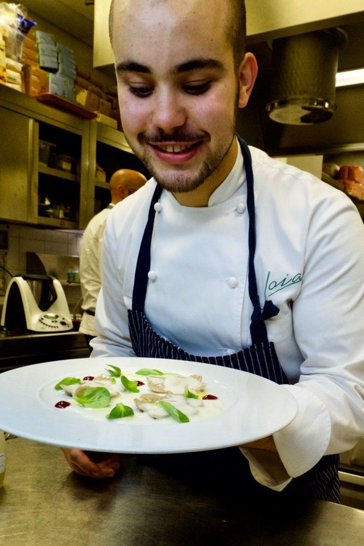 ravioli vegetariani cucinati dallo chef Jacopo Ticchi