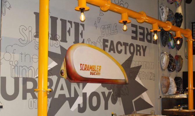 Scramble Food Factory Murales