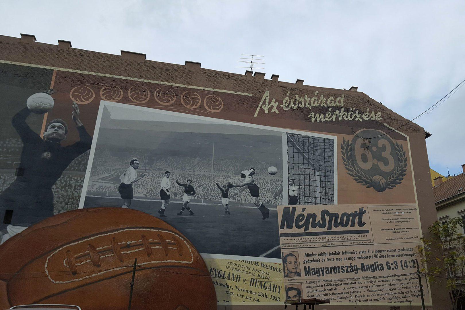 la street art a budapest celebra lo sport