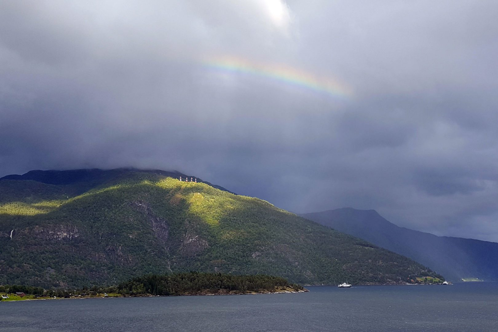 arcobaleno a sognefjord