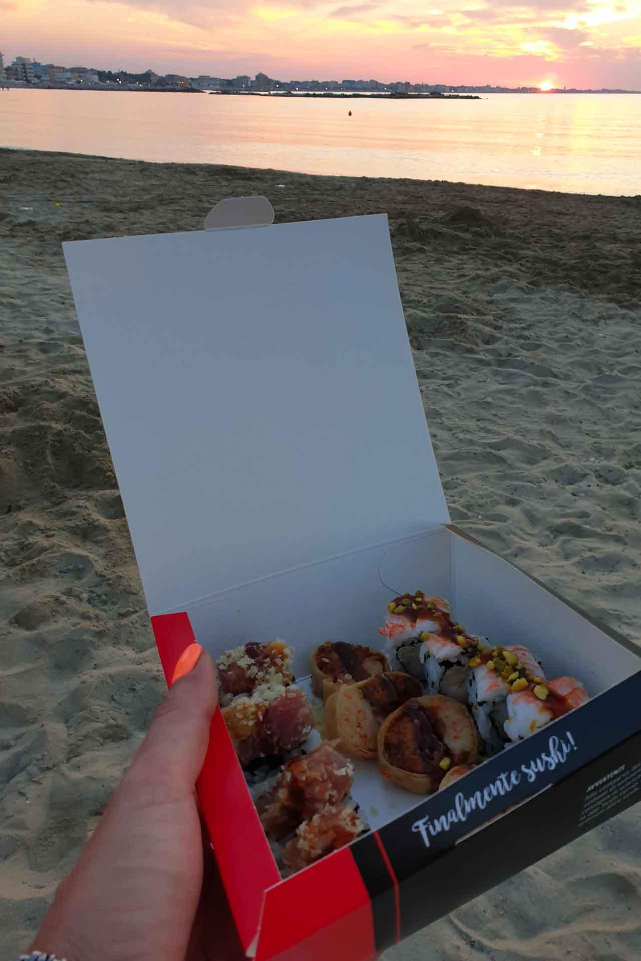 sushi in spiaggia