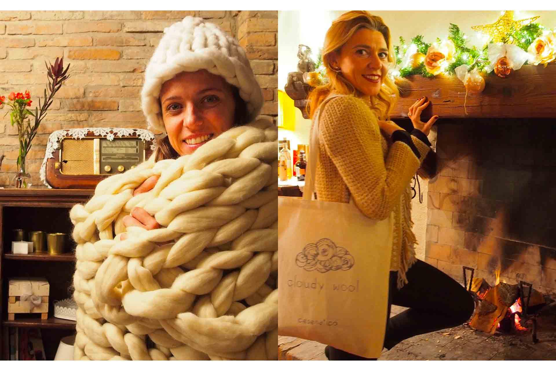 coperta e cappello di lana
