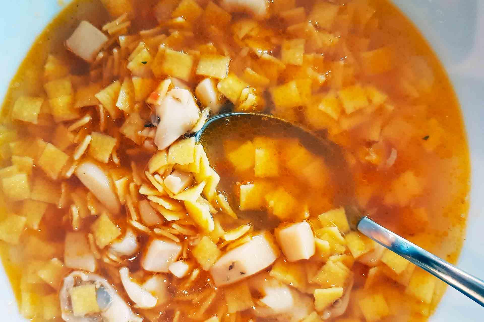 comfort food: quadrucci in brodo