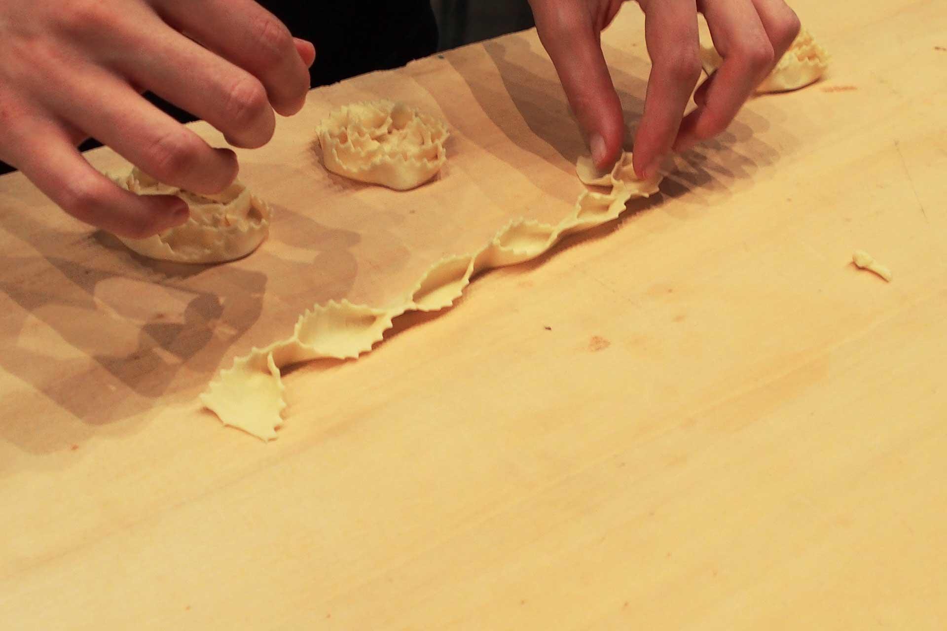 preparazione di dolci da forno