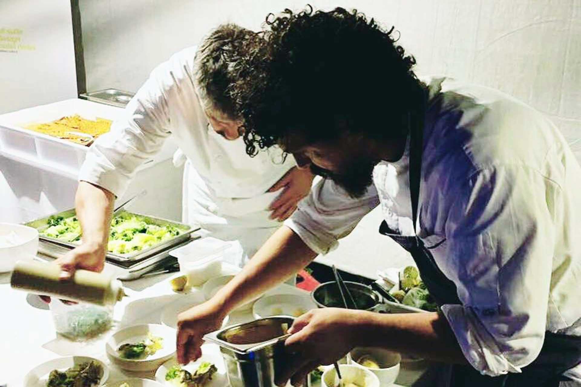 gli chef del bios kitchen: pier giorno parini e marco bonari