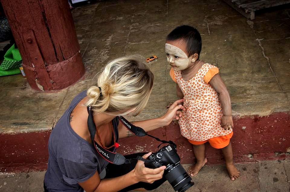 fotografa e bimba