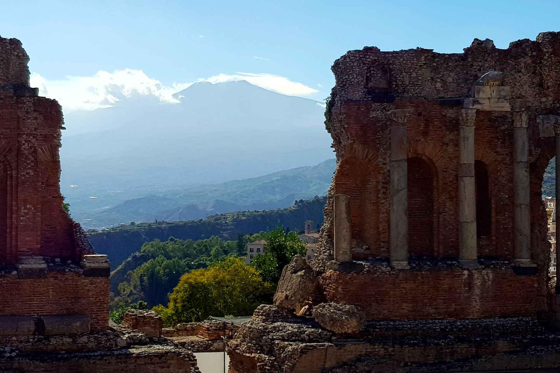 anfiteatro taormina, sicilia