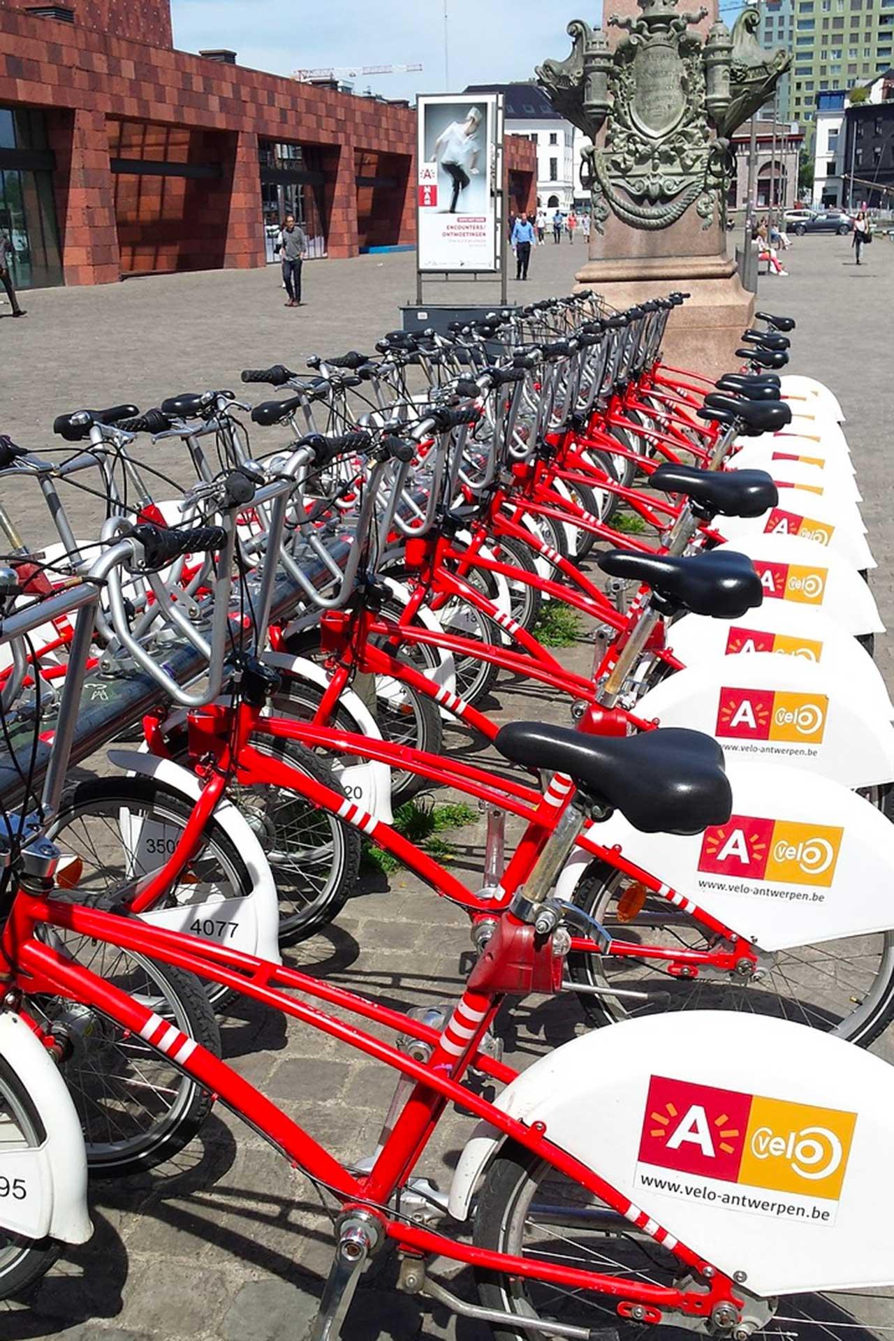 anversa: biciclette fuori dal Mas