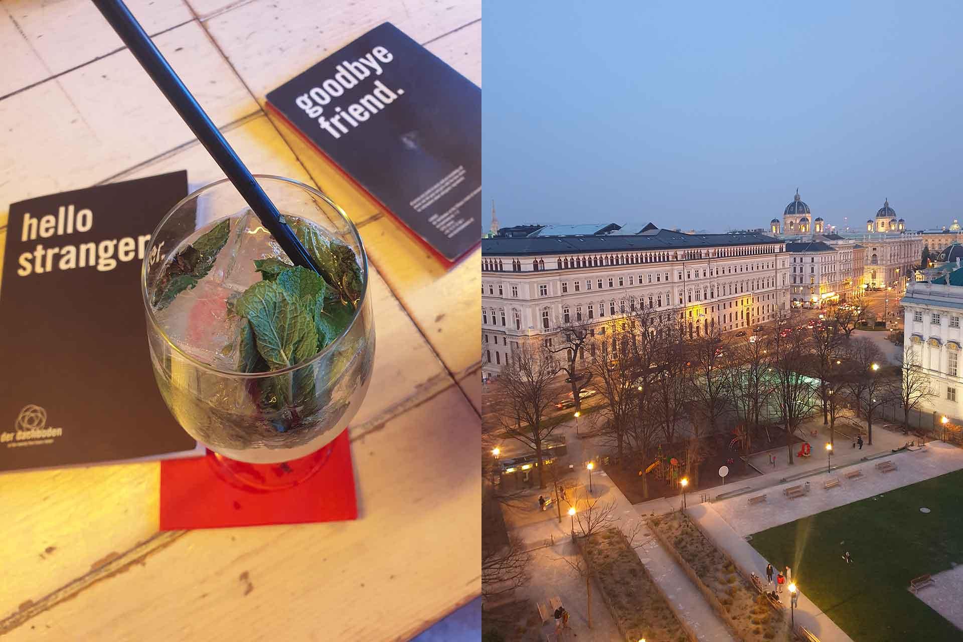 aperitivo sul rooftop vienna