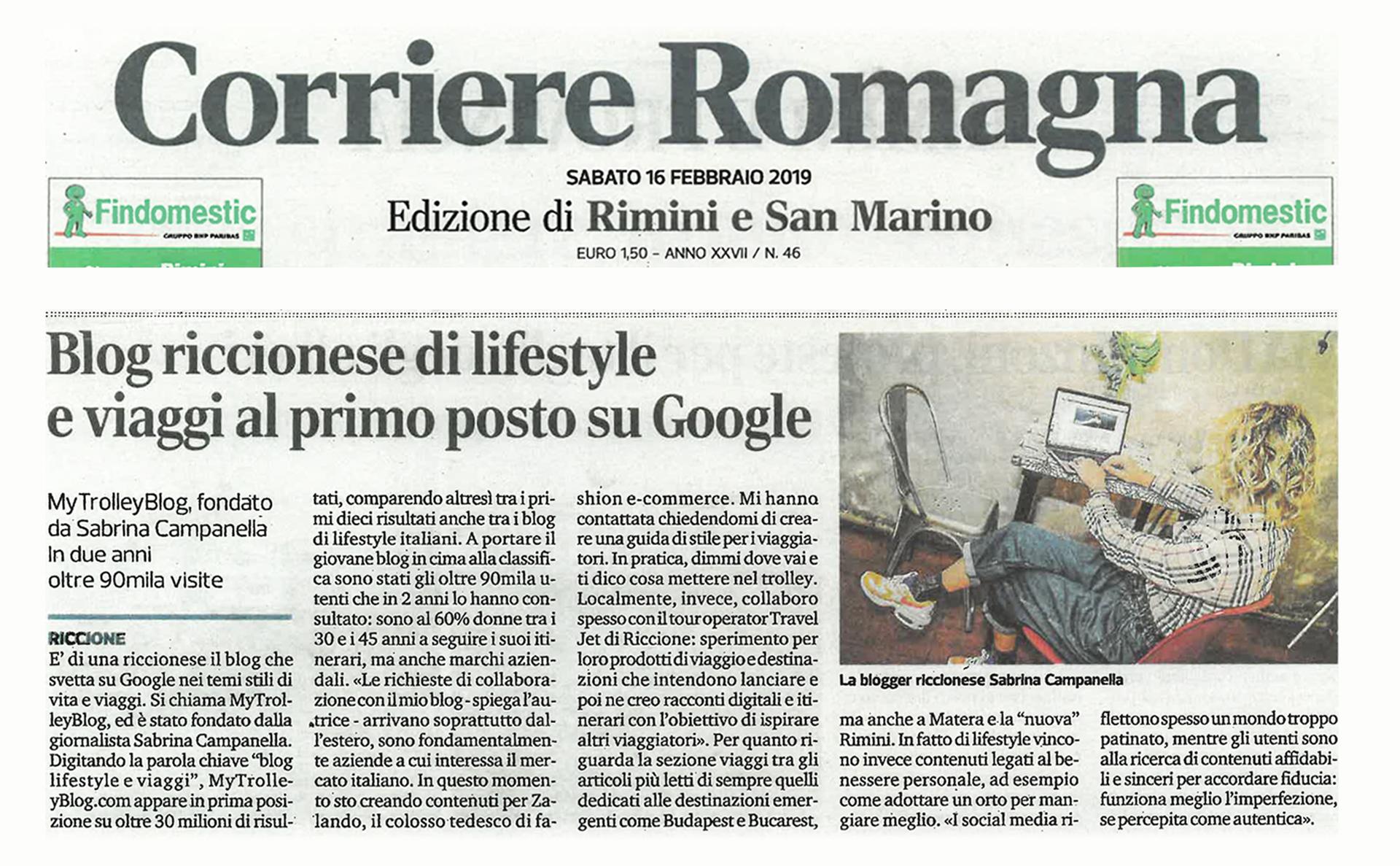 Corriere Romagna - Sab, mytrolleyblog