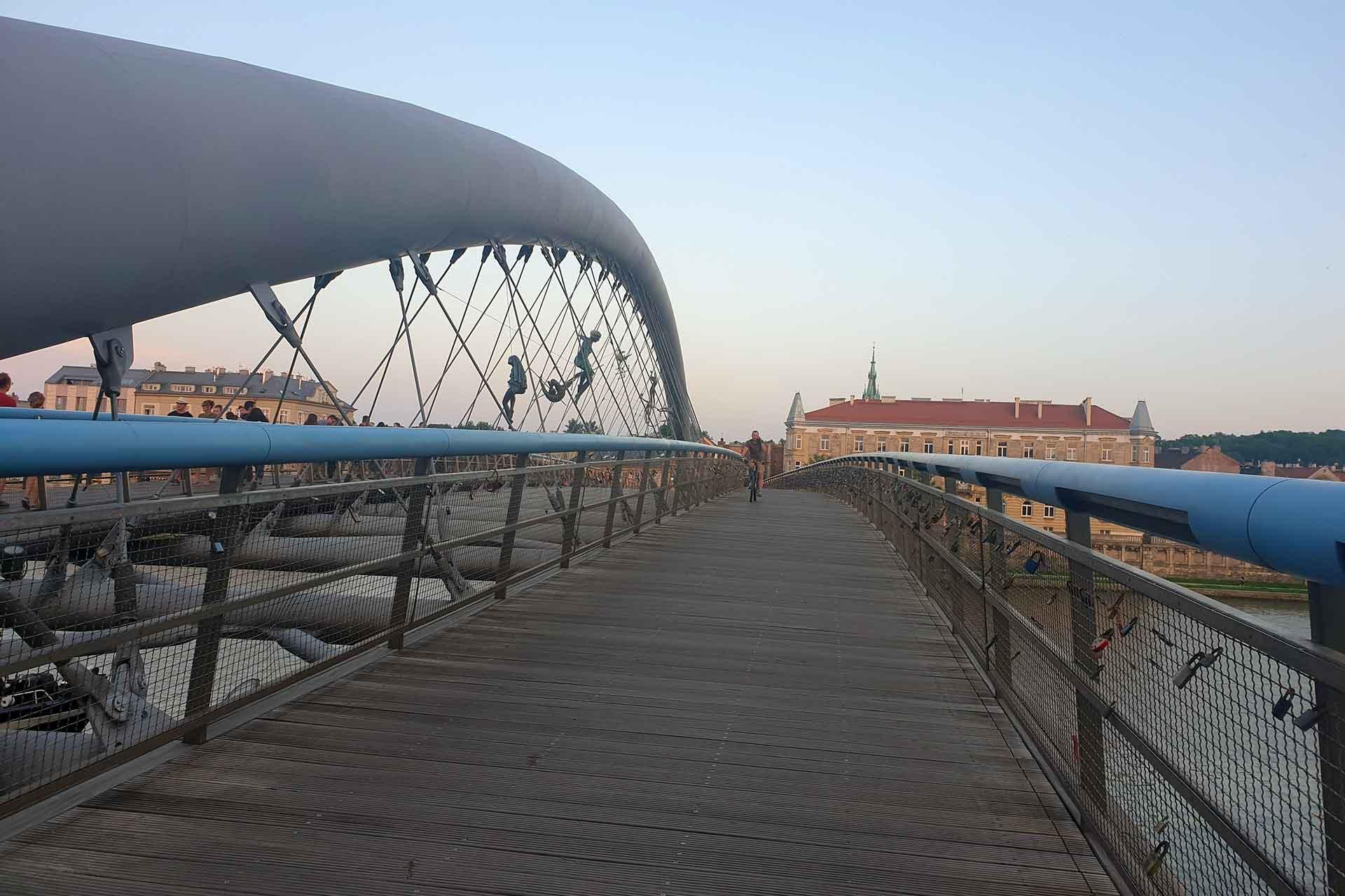 cracovia: ponte che porta al ghetto ebraico