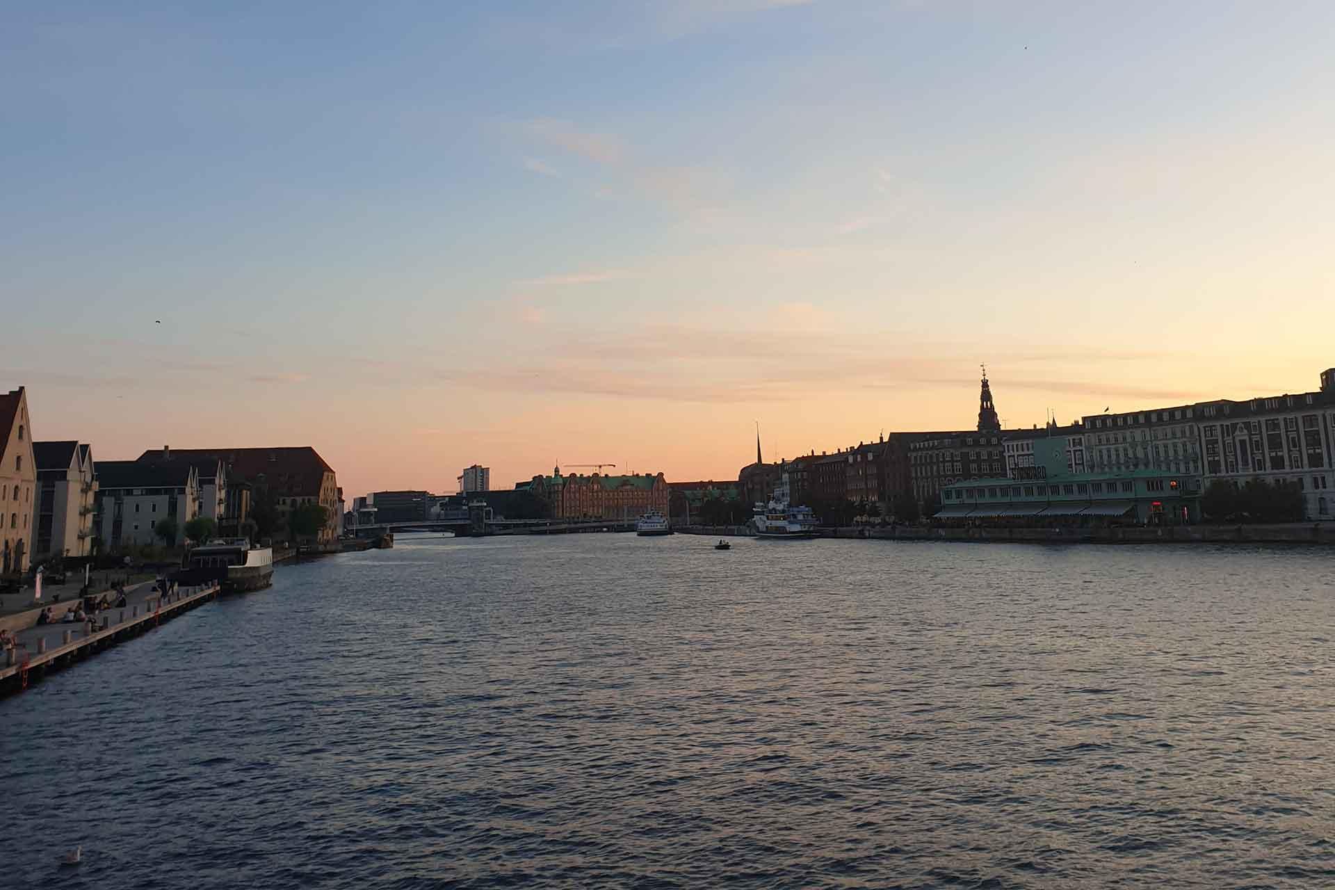 copenaghen tramonto
