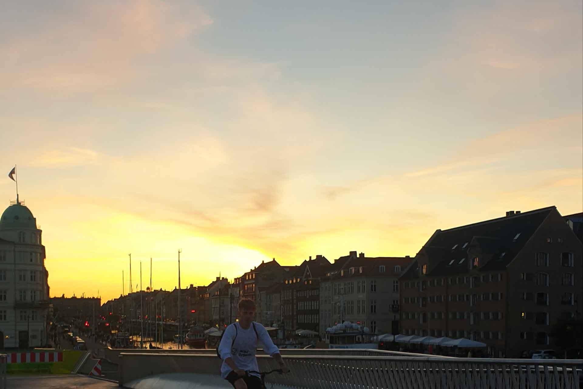tramonto a copenaghen